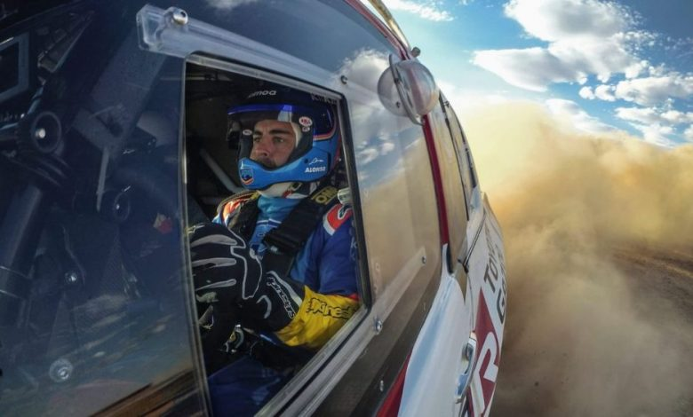 Photo of Fernando Alonso sufrió un impresionante accidente en la décima etapa del Rally Dakar