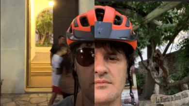 Photo of Andres Ciro Martinez llegó a San Juan y se dio una vuelta en bicicleta