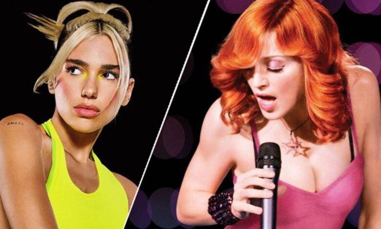 Photo of Dua Lipa cumple el sueño de grabar con Madonna