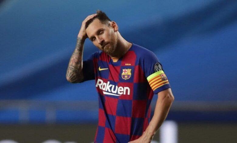 Photo of La foto de Messi en el vestuario del Barcelona tras la derrota ante Bayern