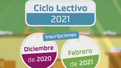 Photo of Educación habilitó una página web sobre modalidad de inscripciones del Ciclo Lectivo 2021