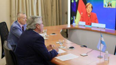 Photo of El Presidente mantuvo una comunicación de 40 minutos con la canciller alemana Angela Merkel
